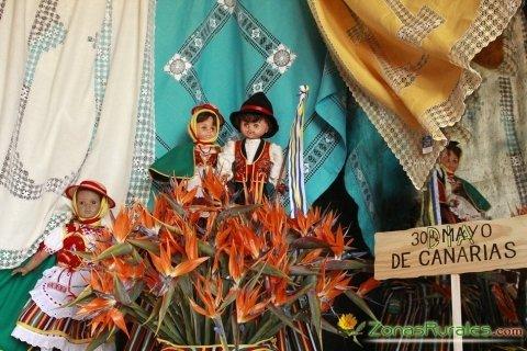 Tres colores y mucha unión en el Día de Canarias